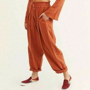 Free People Cuddle Up High Waist Brown Pant New